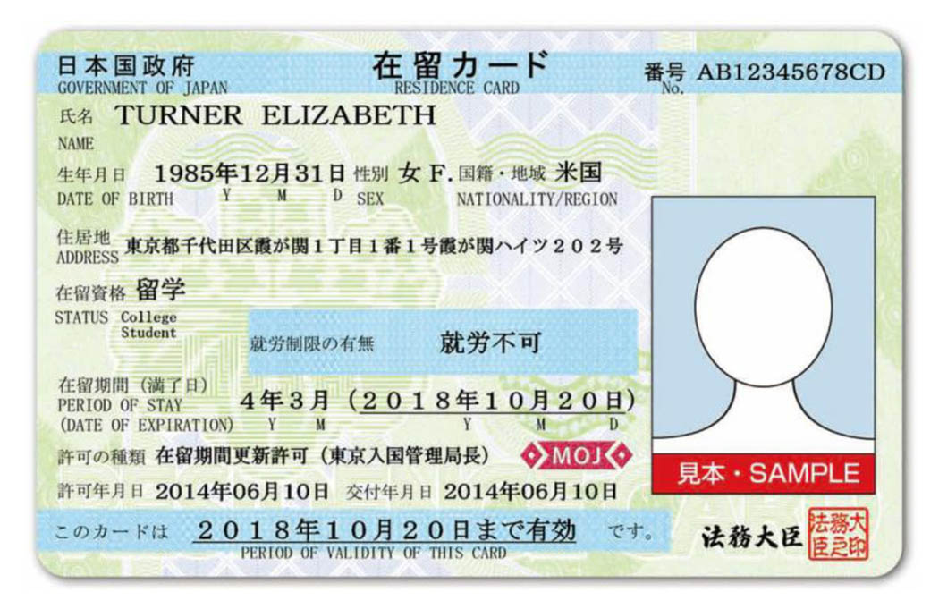 zairyu-card-residence card in Japan