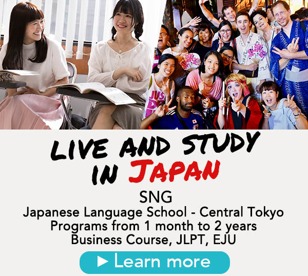 live in japan, study japanese language with SNG